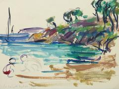 Vintage French Seascape - The Cove