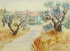 Vintage French Watercolor - Provence Country