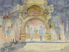Vintage French Watercolor - Theater Night