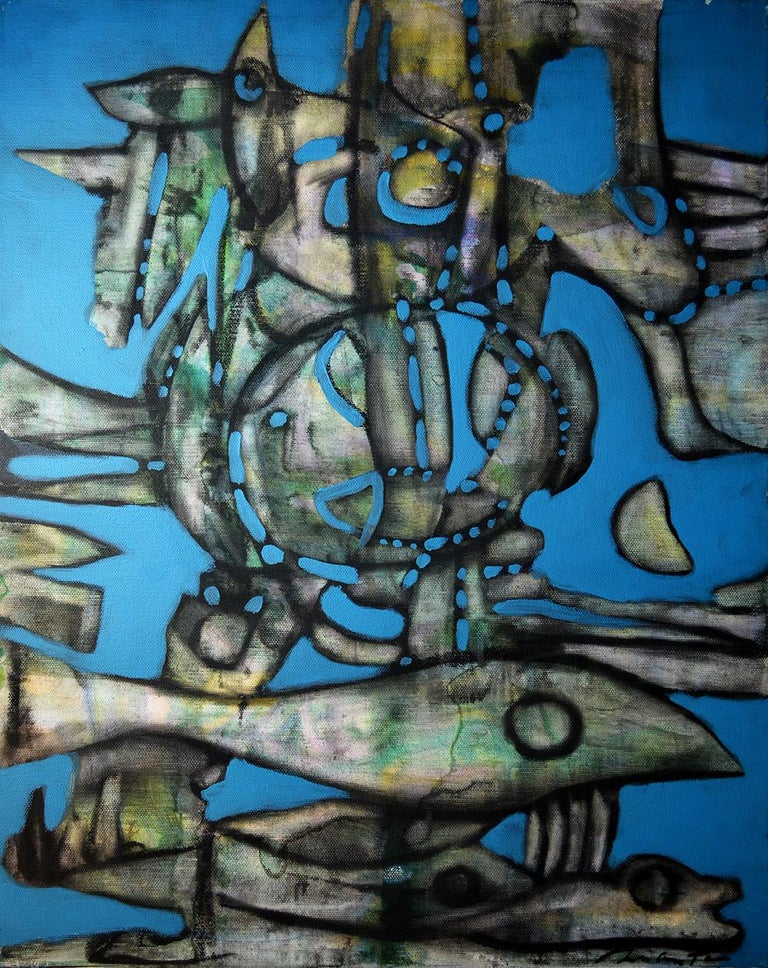 'Shipwreck' by Rolando Duartes, abstract acrylic painting