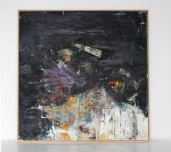 ''Area 51' abstract mixed-media on wood by Stefan Heyer