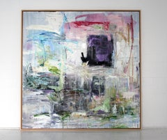 'Cassiber' abstract mixed-media on wood by Stefan Heyer