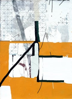 'Warm Gold' by Antoine Puisais, mixed-media on linen, abstract