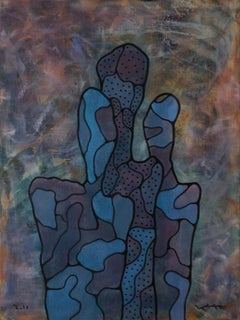 'Careful Optimism' by Yuriy Zaordonets, acrylic on canvas, abstract