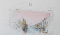 'Venice, Canal St Anna' by Alexander Befelein, watercolors