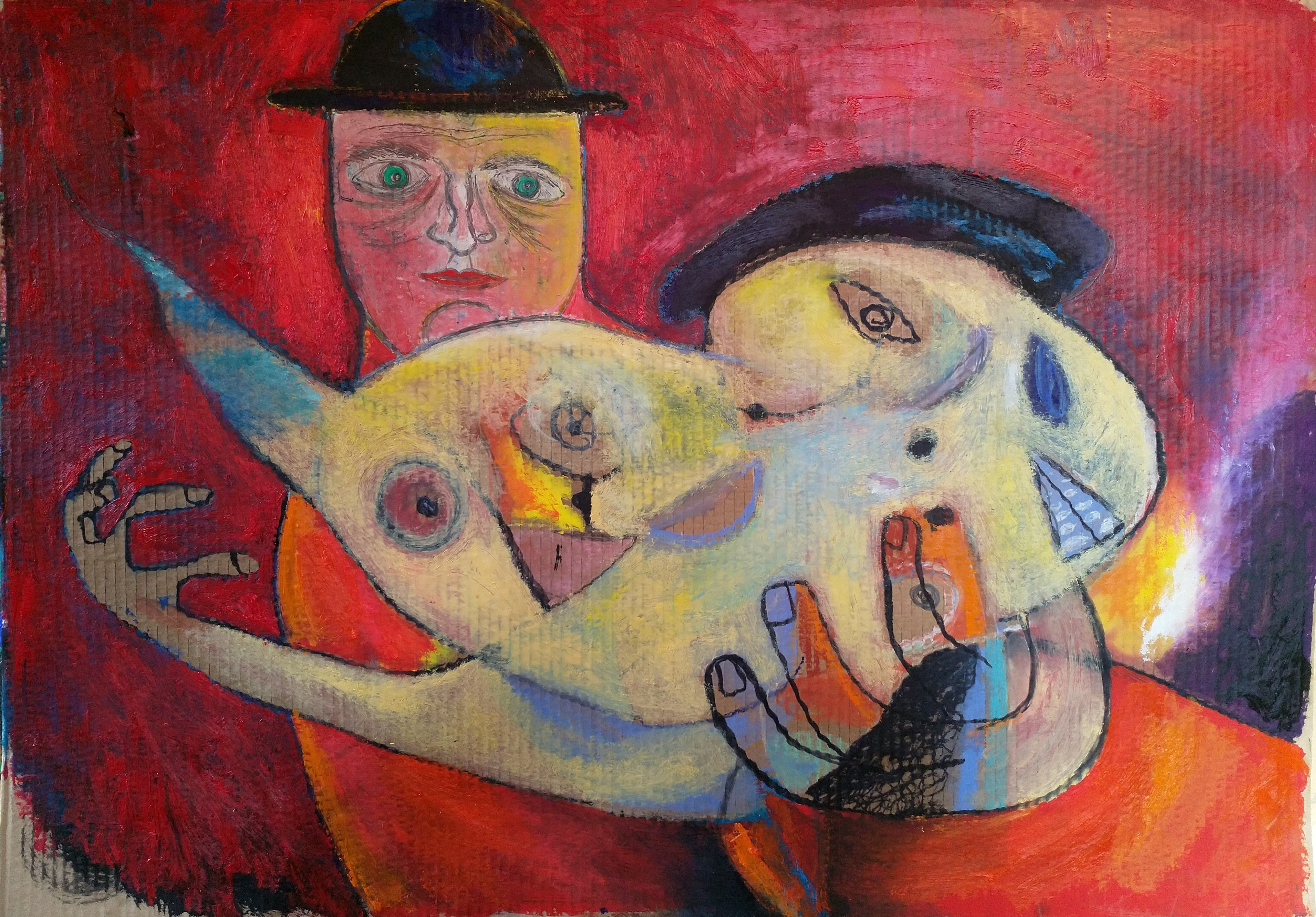 Finding Some Miracle, Szilard Szilagyi, Figurative Expressionist Oil Painting
