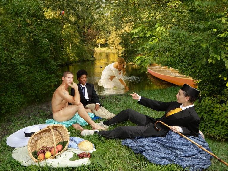 E2 - Kleinveld & Julien Figurative Print - Ode to Manet's Déjeuner sur l'herbe