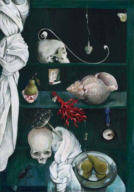 Rachel Burch Williams Still-Life Painting - My Ghost (vanitas)