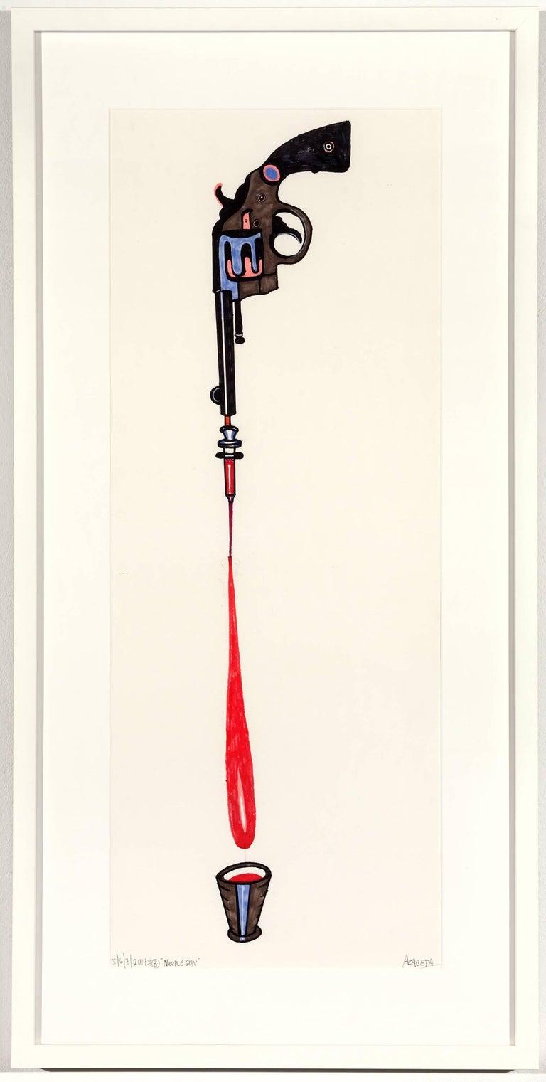 Needle Gun - Art by Luis Cruz Azaceta