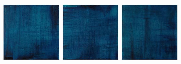 Three (translucent turquoise, prussian paris blue)