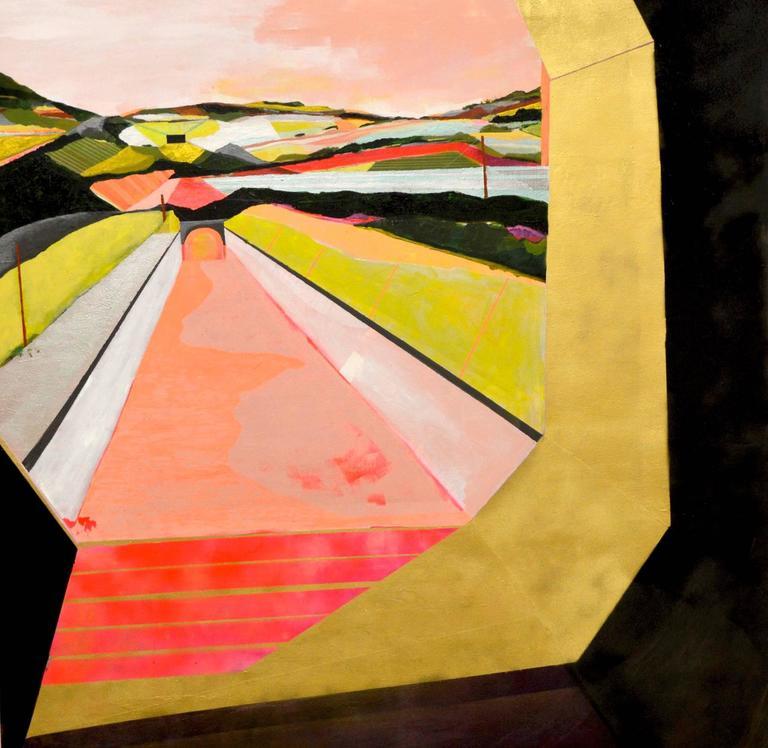 Jenny Day Landscape Painting - Nearly Somewhere 005