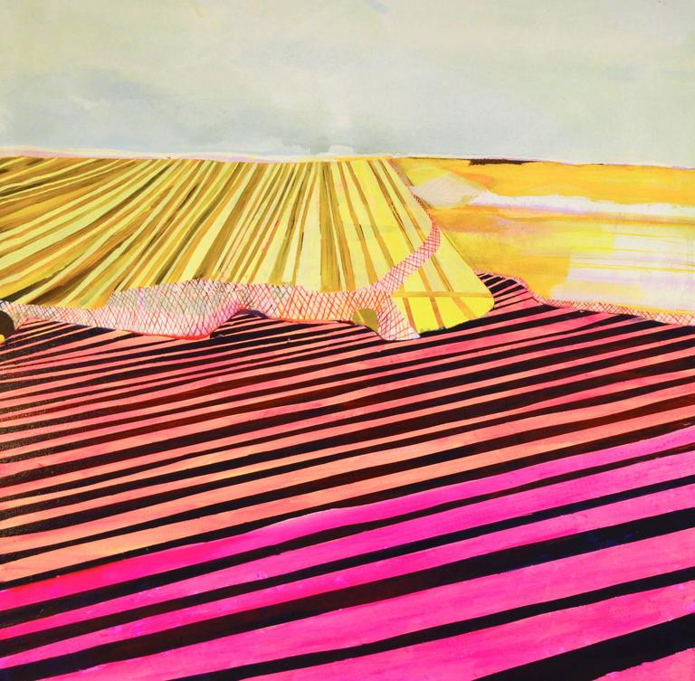 Jenny Day is a painter who divides her time between Santa Fe, New Mexico and Tucson, Arizona. She paints a fragmented space, examining human demand and the effects of environmental degradation on an understanding of place. She earned an MFA in