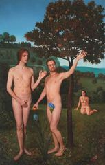 Adam and Steve, Ode to Hugo van der Goes' The Fall of Man