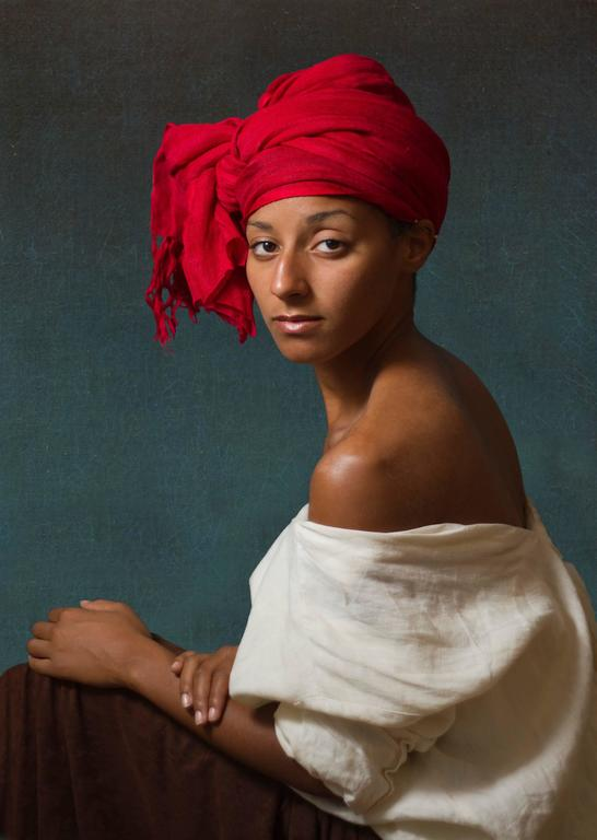 E2 - Kleinveld & Julien Figurative Photograph - Ode to Aman's Creole with a Red Headdress