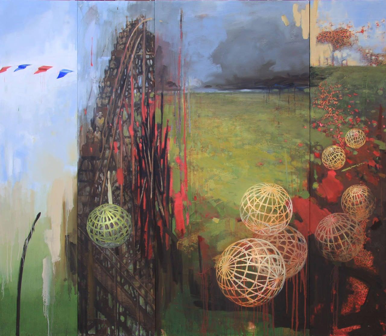 Sandy Chism Landscape Painting - Rumble