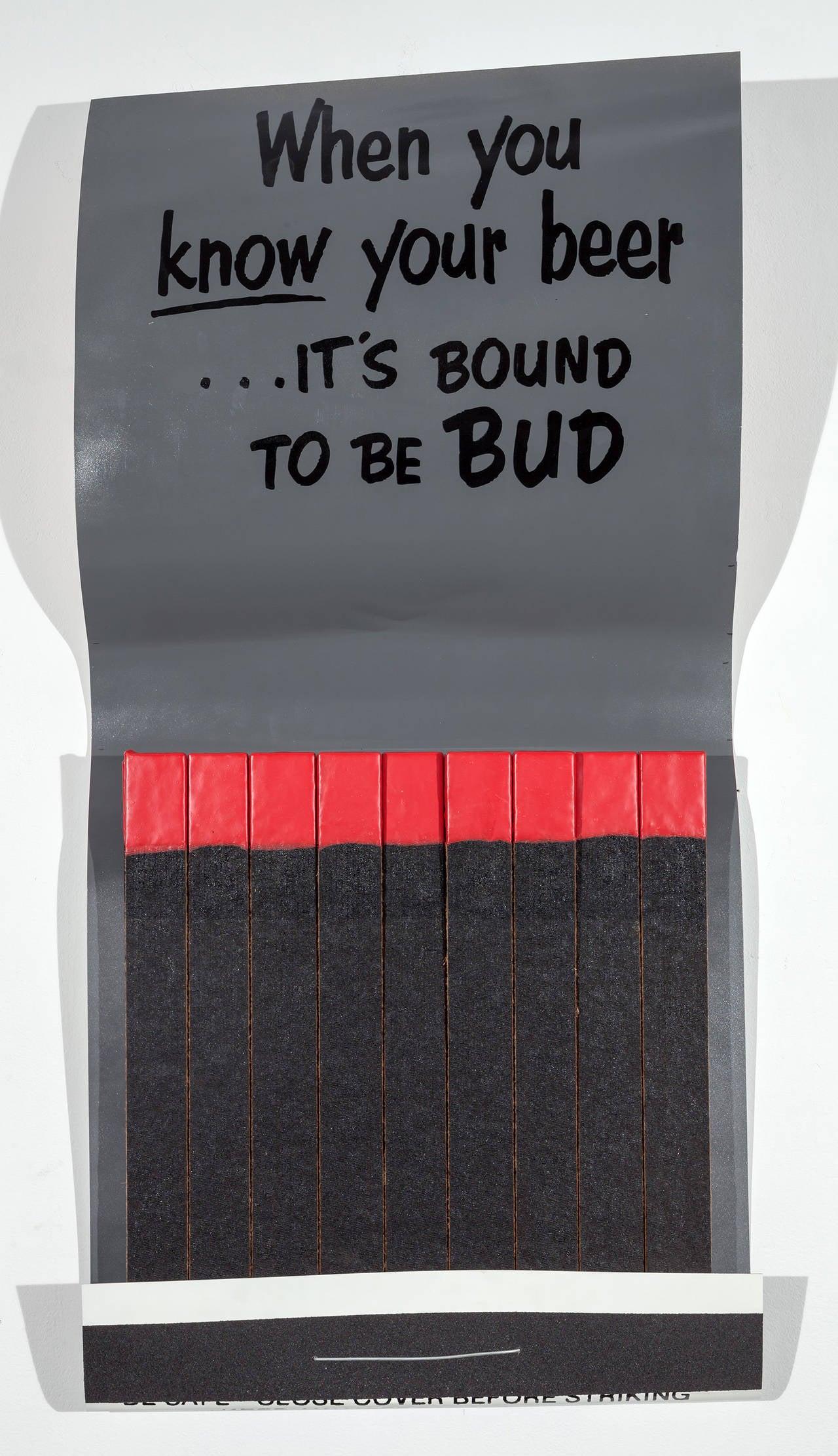 Budweiser - Pop Art Sculpture by Skylar Fein