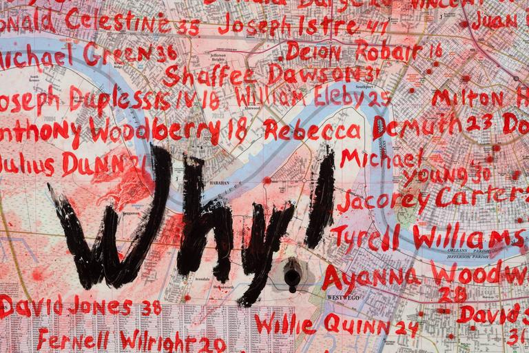 Why! (Is It Easier to Get a Gun than an Education, A Gun Instead of Help?) - Contemporary Art by Ron Bechet