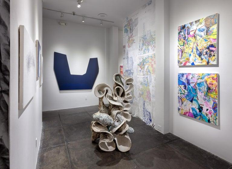 Post Digital Landscape: Blue - Painting by Amy Schissel