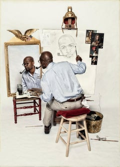 Ode to Rockwell's Triple Self-Portrait