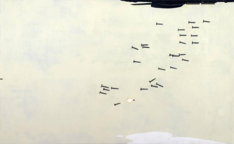 The Bombs Bursting in Air - Painting by Adam Mysock