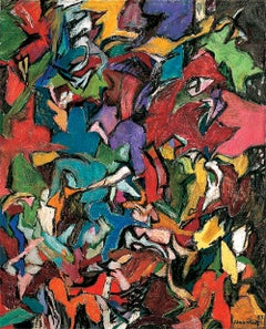 Amaranth Ehrenhalt, Jagged Edge, oil on canvas, 1959