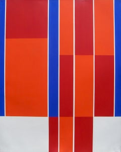 Ilya Bolotowsky; Red, Blue, White Rectangle; acrylic on canvas; 1973