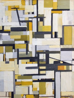 Michael Loew, Delineations in Space, oil on canvas, 1955