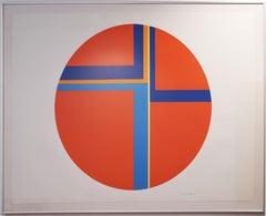 Ilya Bolotowsky, Red Tondo, silkscreen print, 1979