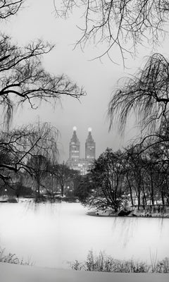 Central Park, New York City Black and White Photograph, Winter Solstice and Snow