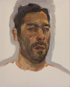 Esteban Ocampo-Giraldo, Selfie Painted With Dead Palette, 2016, oil on canvas