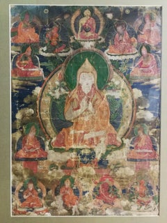 THANGKA, TIBET, antique, 19th C. In good condition! Was in use!