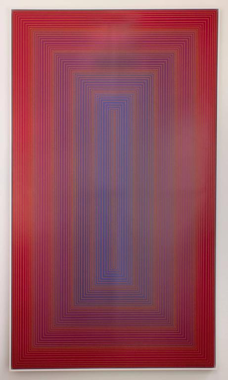 Richard Anuszkiewicz Abstract Print - Red to Blue Portal
