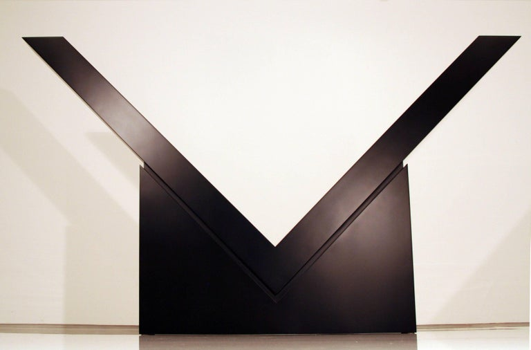 Ronald Bladen Abstract Sculpture - V (Mid-Scale)