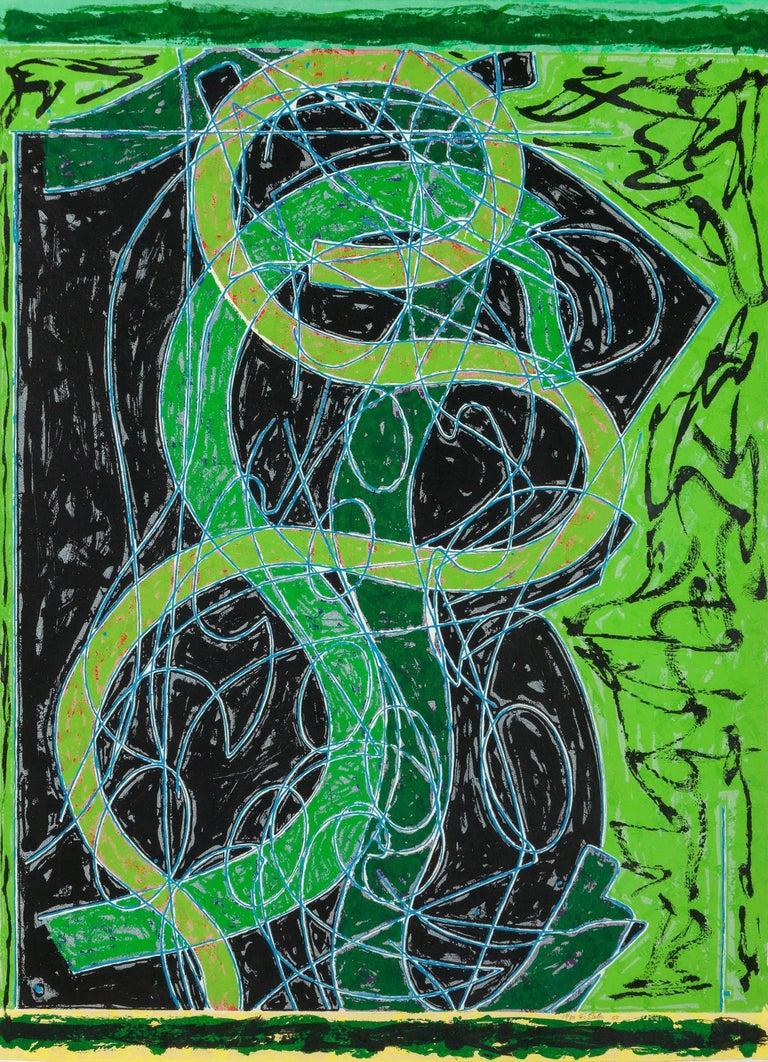 Frank Stella Abstract Print - Imola Five II (Circut series)