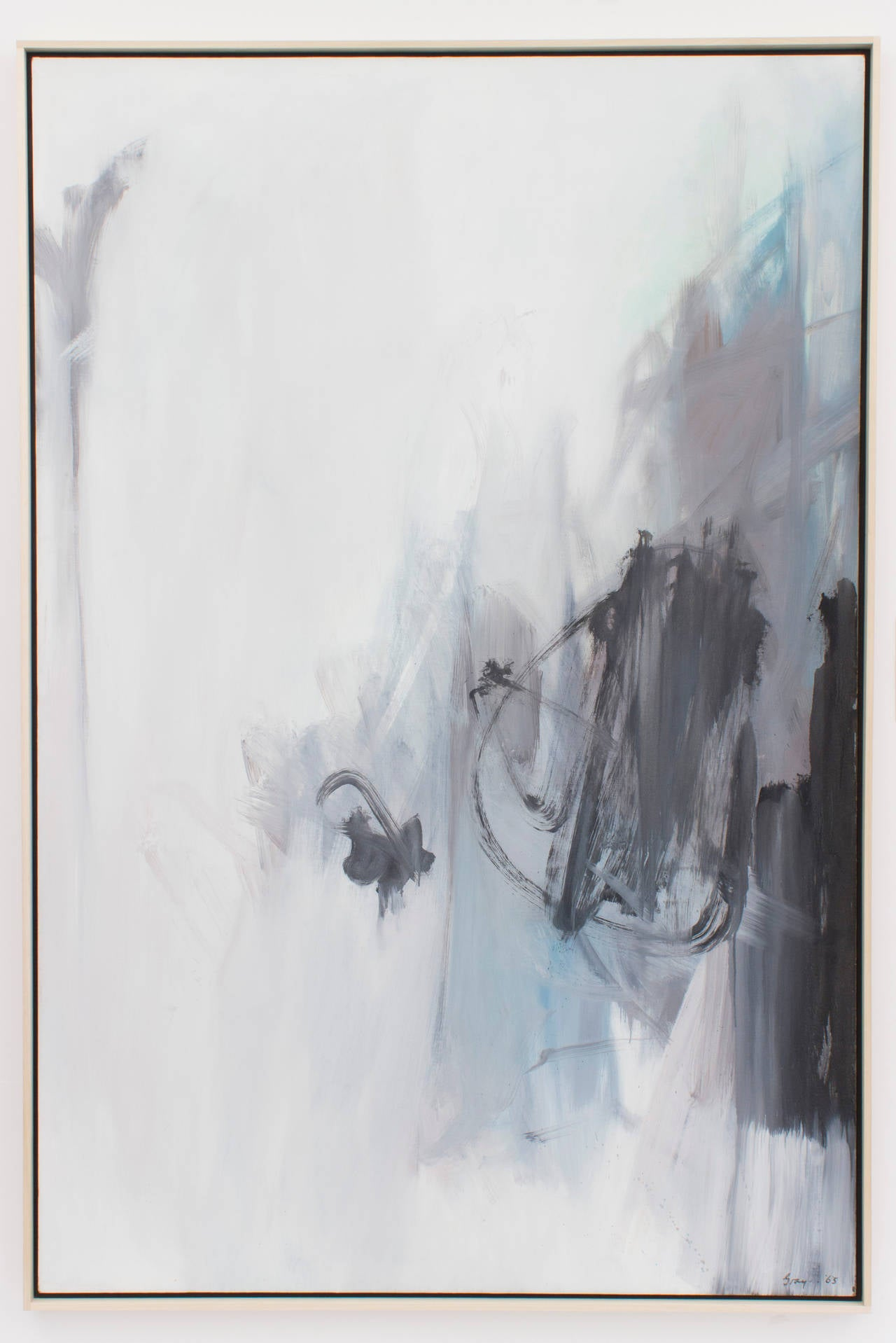 Cleve Gray Abstract Painting - Waiting