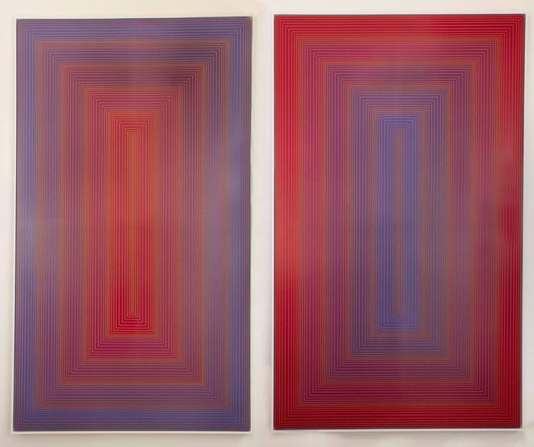 Red to Blue Portal - Print by Richard Anuszkiewicz