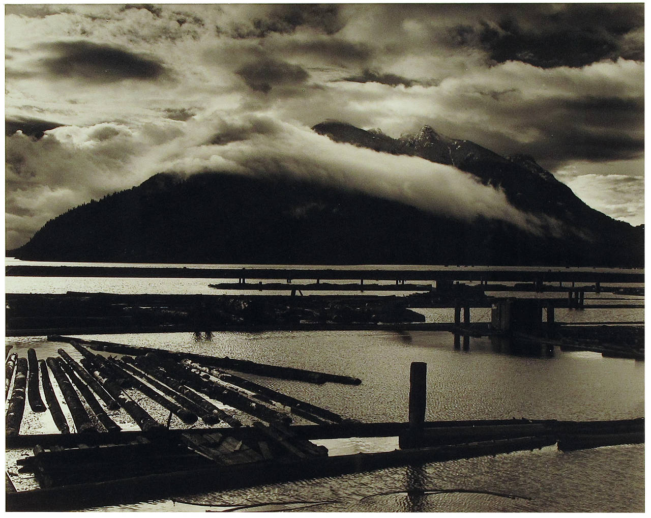 Logging Yard (Vancouver Island) - Photograph by Brett Weston