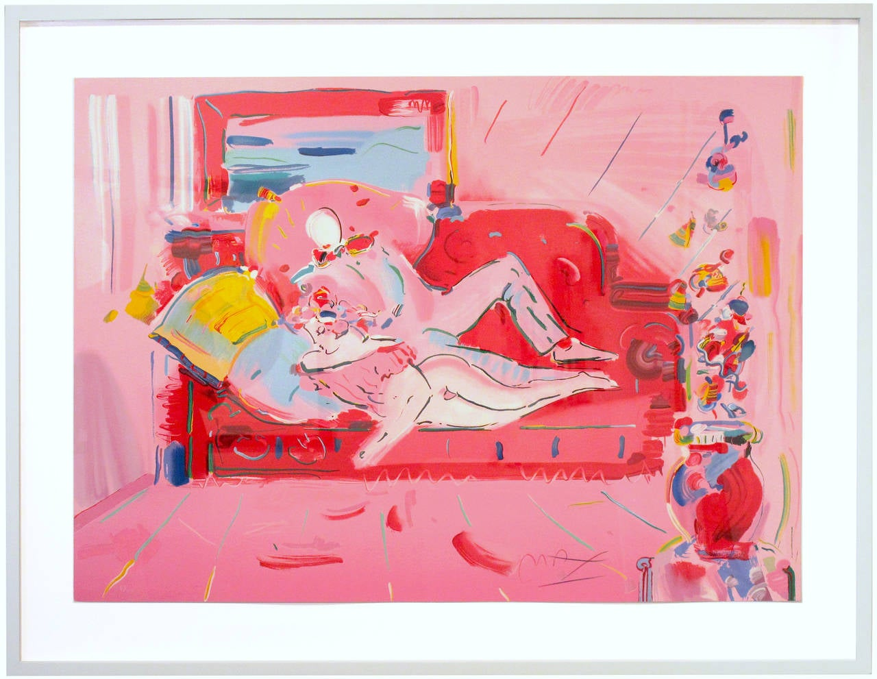 Peter Max - Dega with Lady (Reclining) 1