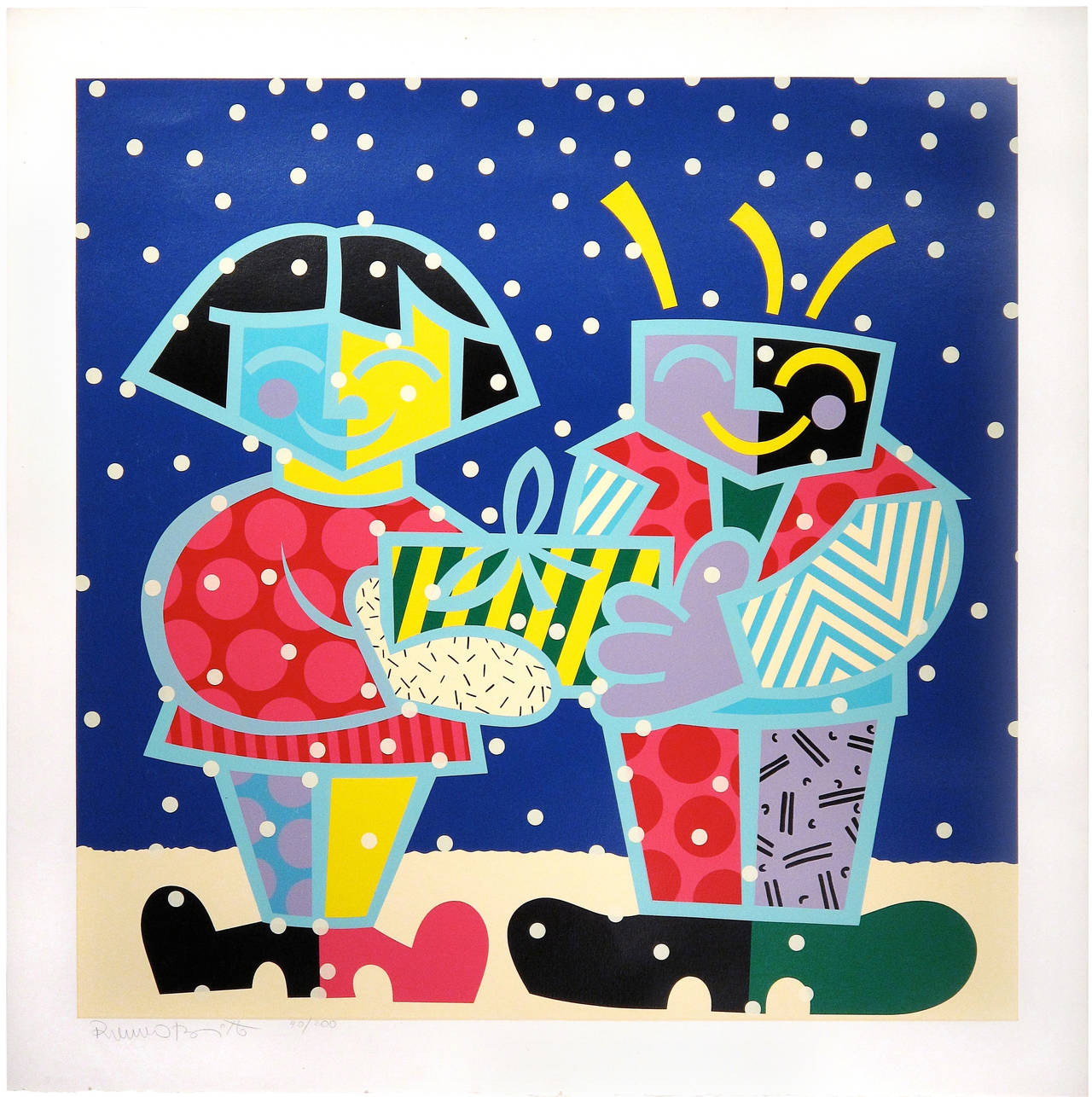 Best Buddies - Print by Romero Britto