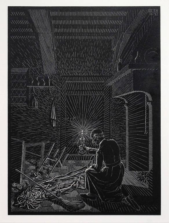 M.C. (Maurits Cornelius) Escher Interior Print - Scholastica - Bad Dream
