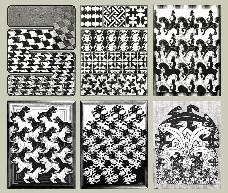 Regular Division of the Plane - Print by M.C. (Maurits Cornelius) Escher