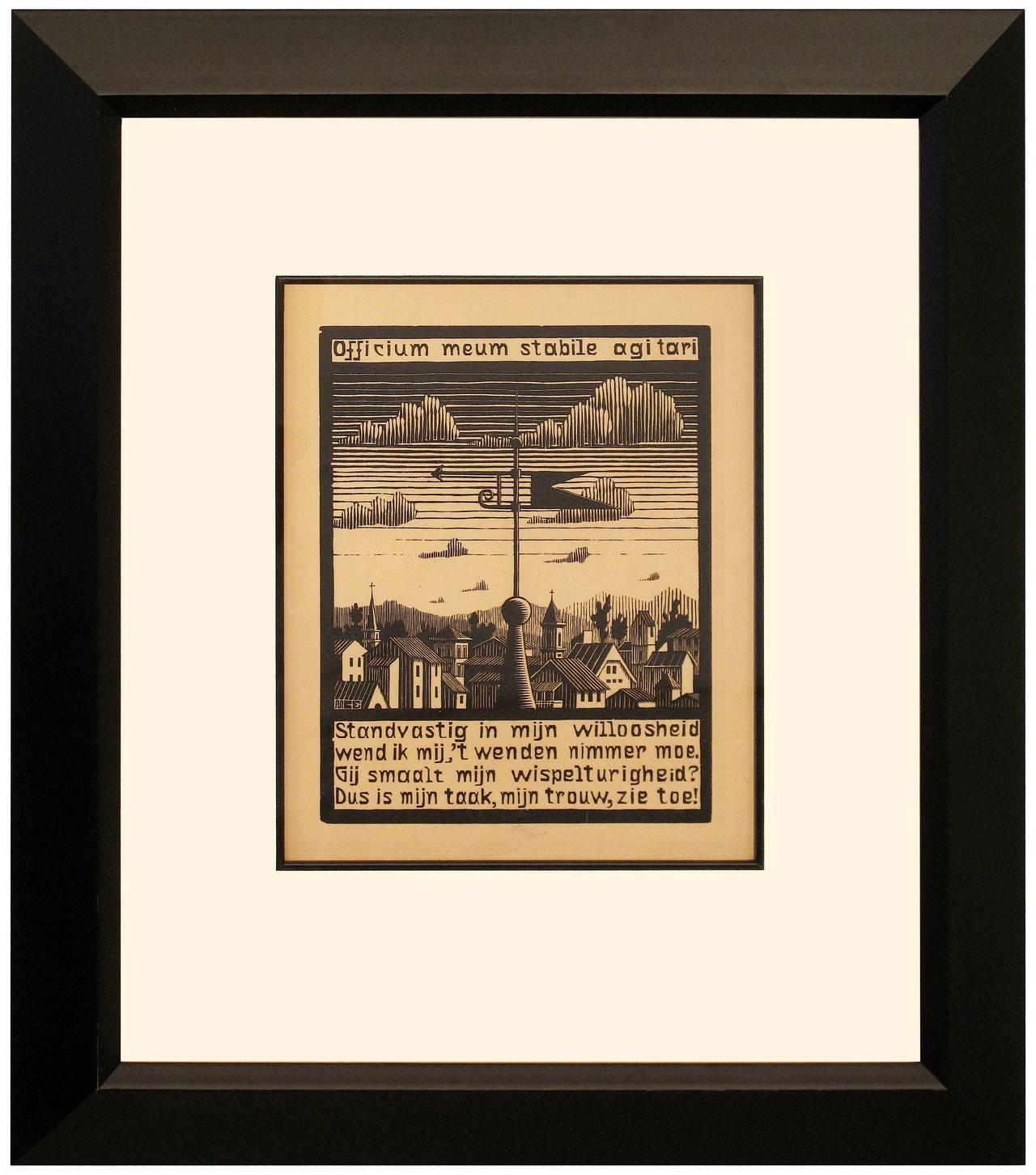 M C Escher Weather Vane Print For Sale At 1stdibs