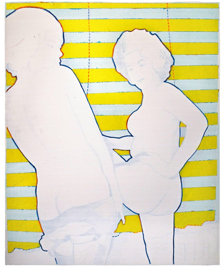 Two Nudes Yellow Blinds