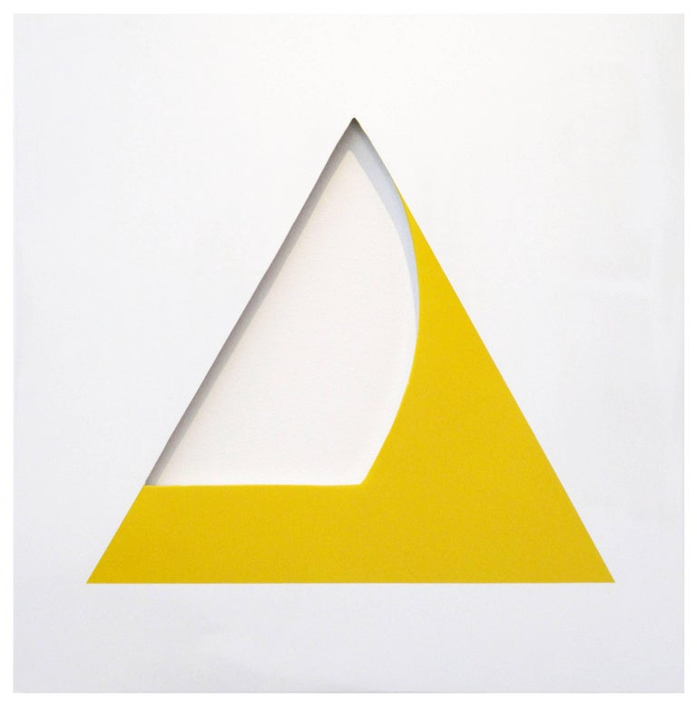 William Fares Abstract Sculpture - Pivot Yellow