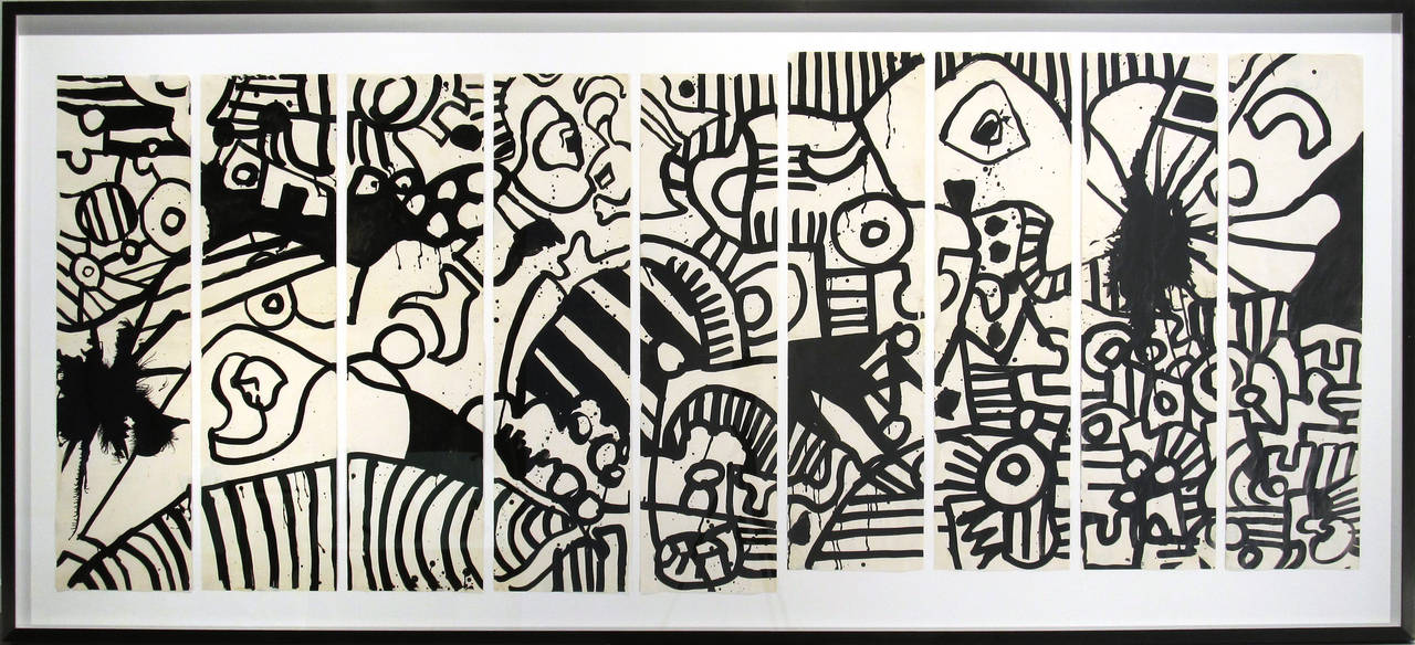 Keith Haring Abstract Drawing - Untitled