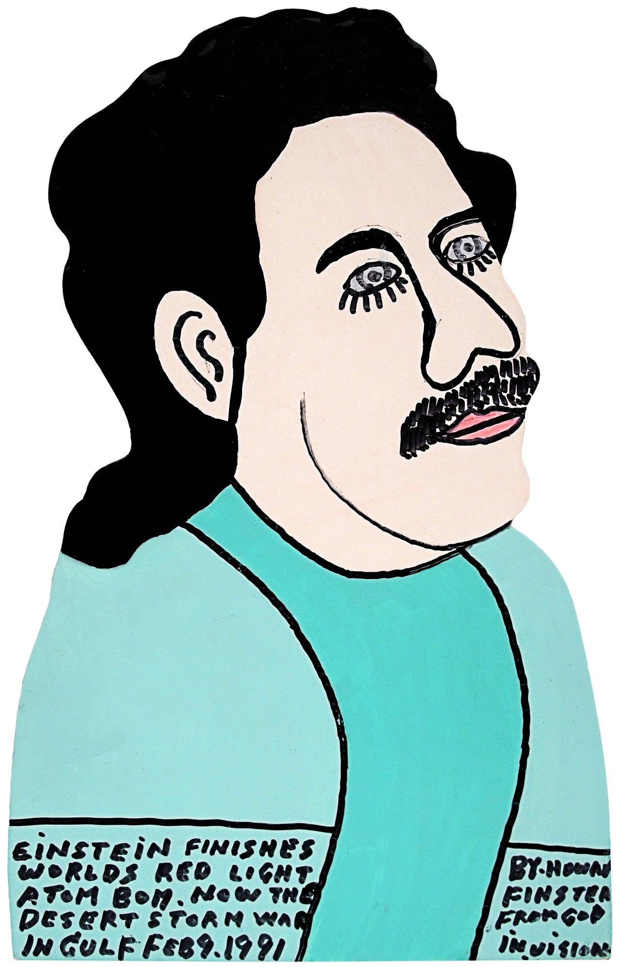 Howard Finster Portrait Painting - Albert Einstein