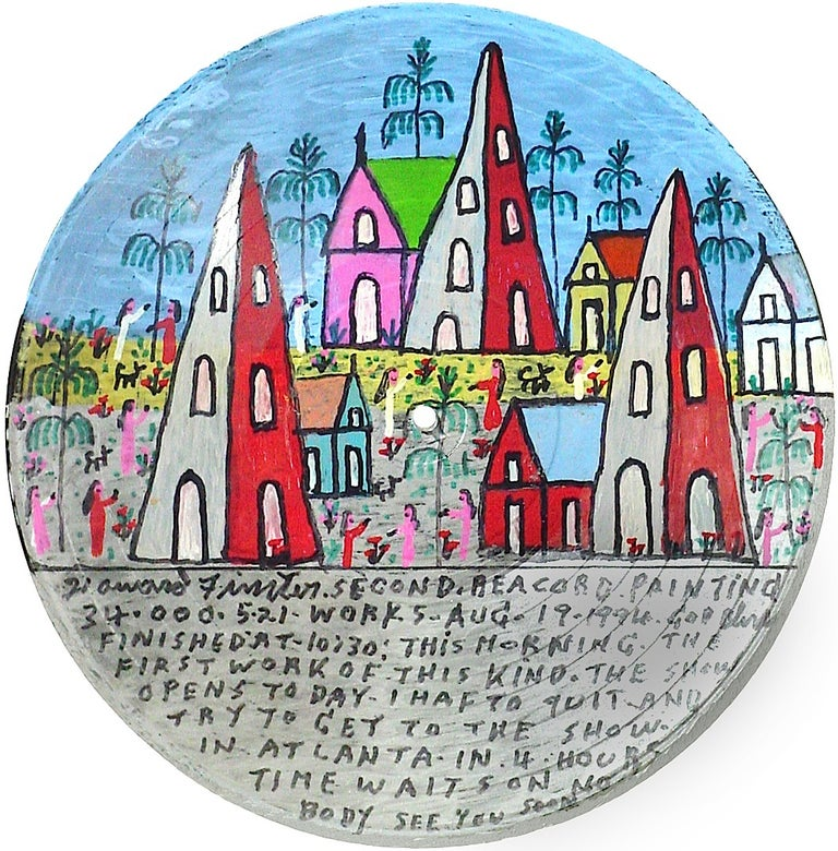 <i>Second Record Painting</i>, 1994, by Howard Finster, offered by Skot Foreman Gallery