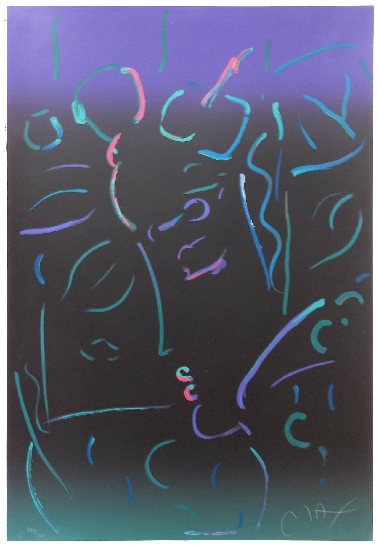 Peter Max - Midnight Profile 1