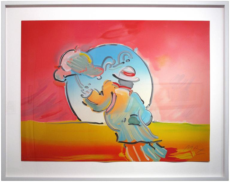 Umbrella Man - Print by Peter Max