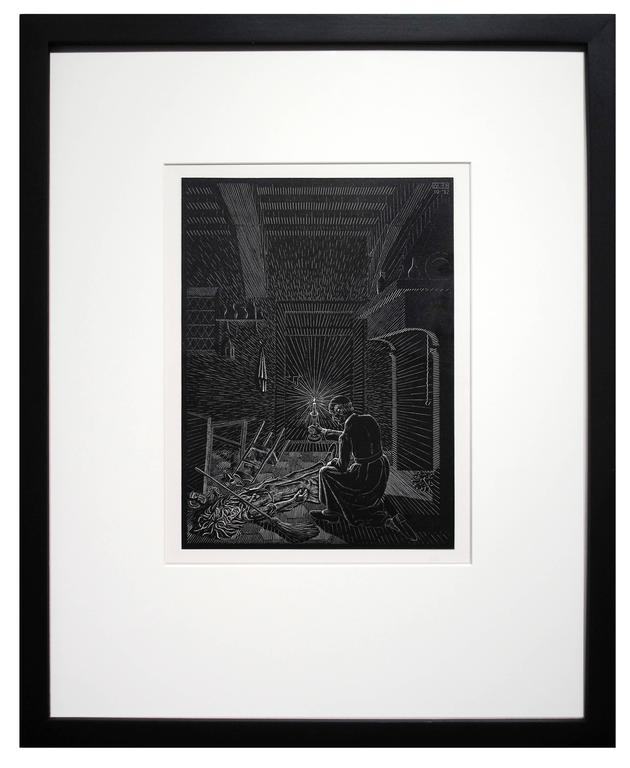 Scholastica - Bad Dream - Print by M.C. (Maurits Cornelius) Escher